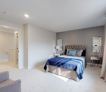 Home Feature: An Easy First Step to a Duplex Master Bedroom Image